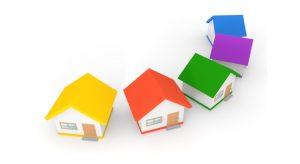 建ち並ぶ住宅のイラスト